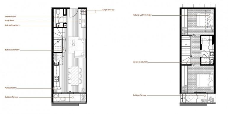 2 bedroom floor plan - 2level